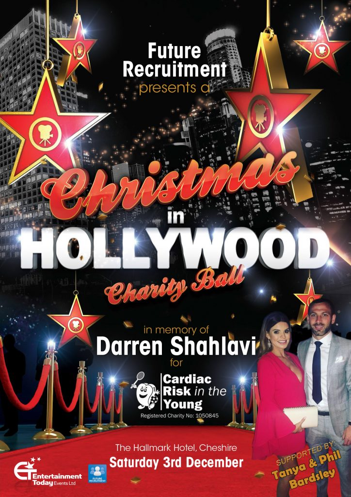 Christmas in Hollywood Charity Ball supported by Tanya and Phil Bardsley featuring Jason Manford