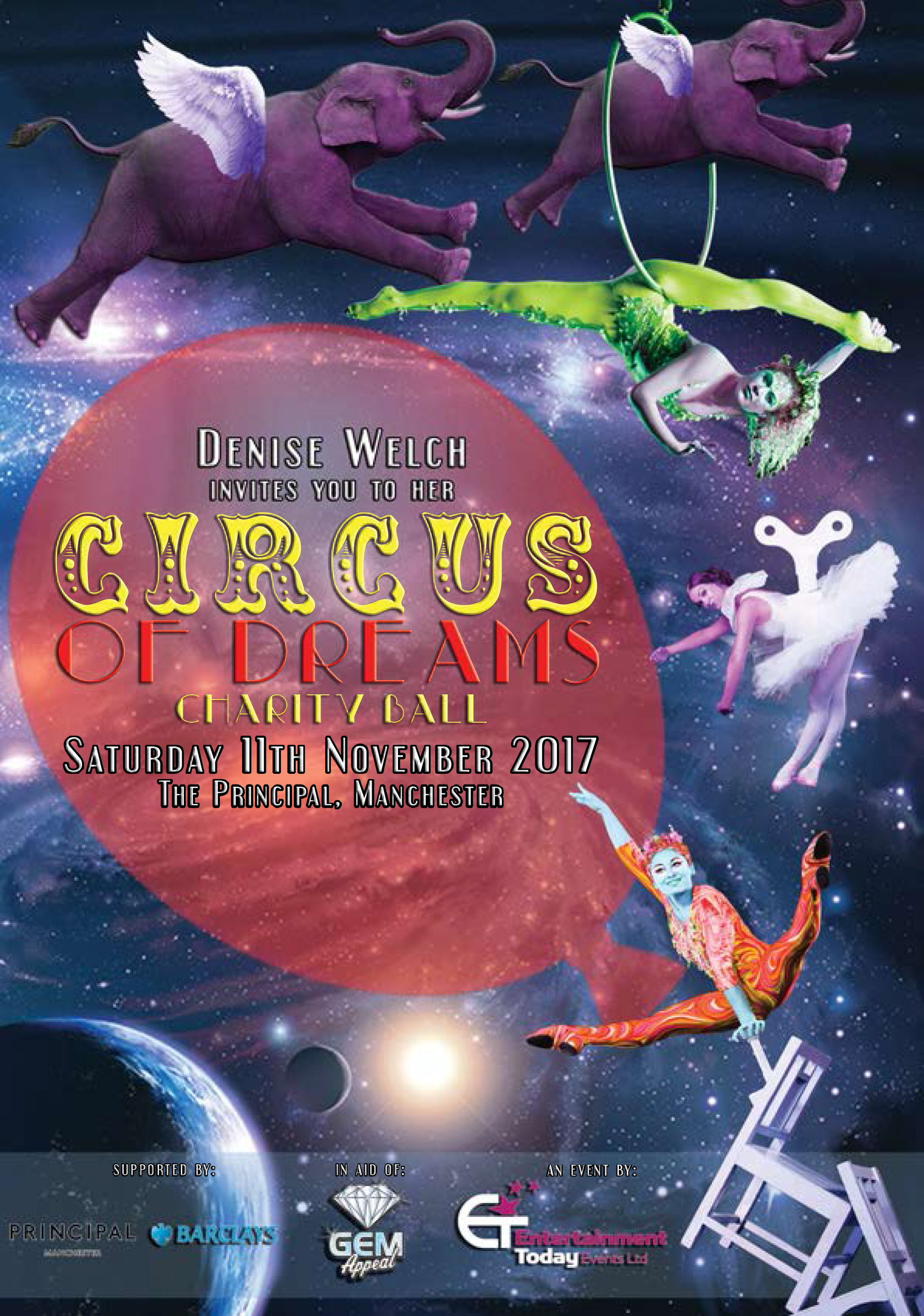 Denise Welch Charity Ball Circus of Dreams Sales Information