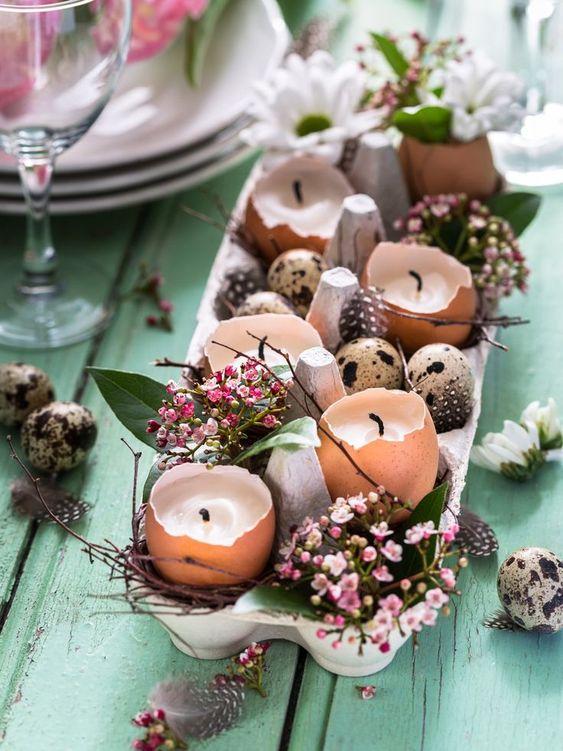 Tischdekoration für Ostern