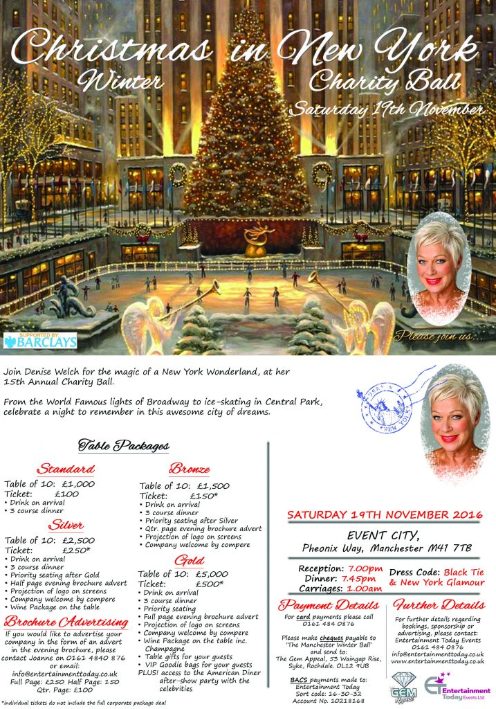 sales information - Denise Welch 2016