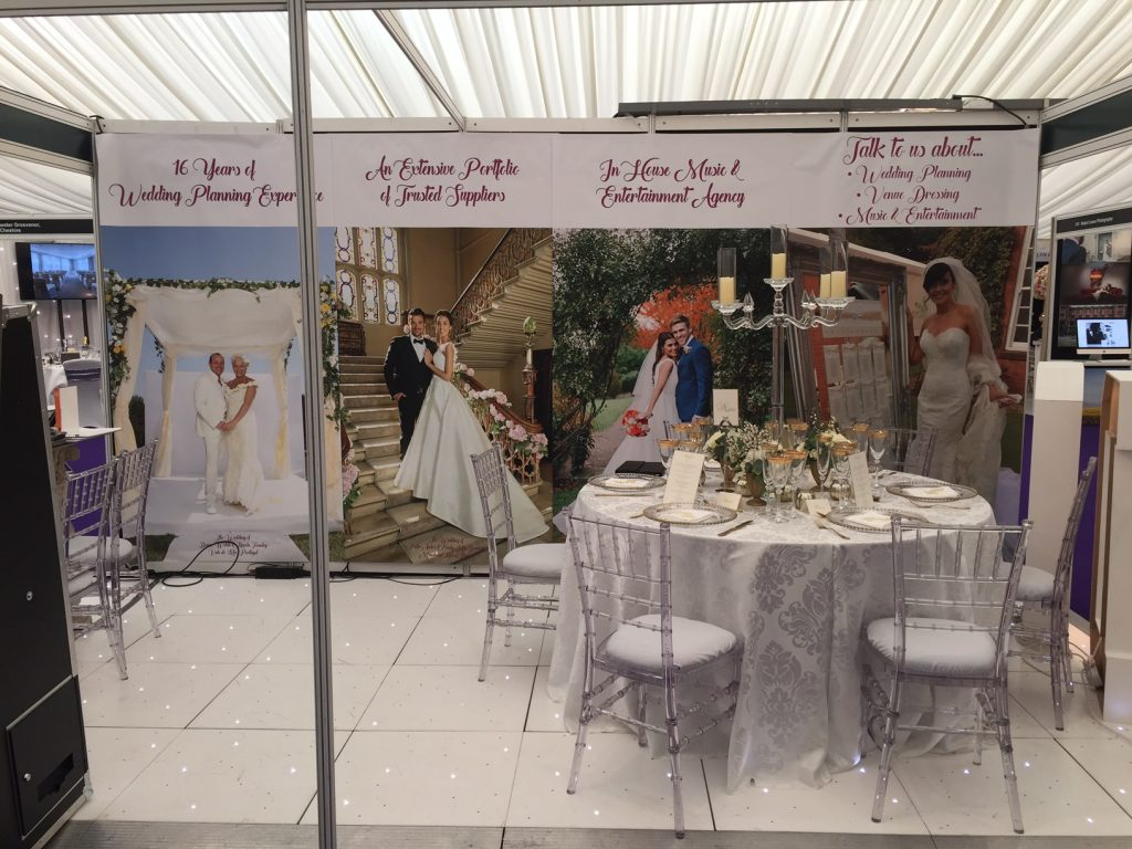 Entertainment Today Celebrity Wedding Planners with their stand at Tatton Park