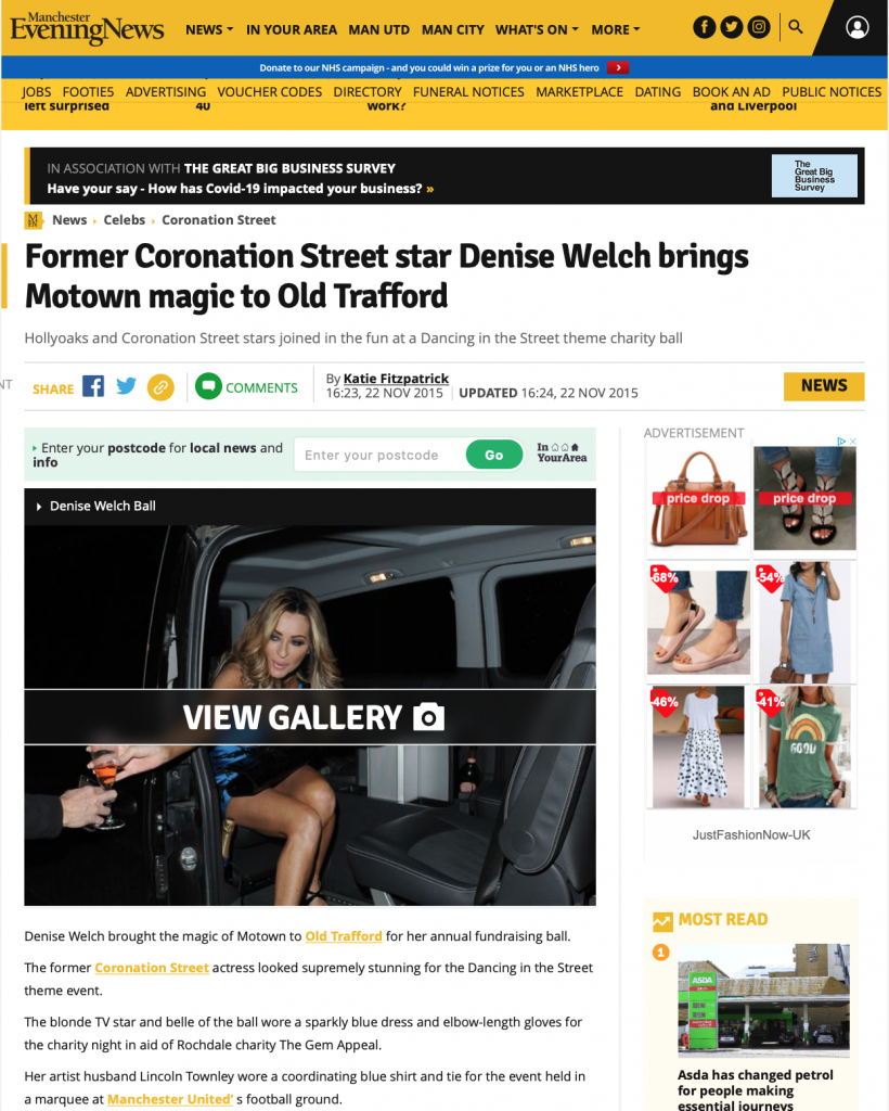 Denise Welch Dancing in the Street Charity Ball Manchester Evening News