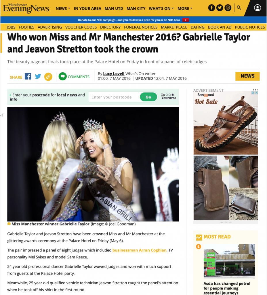 Miss Manchester Grand Final 2016