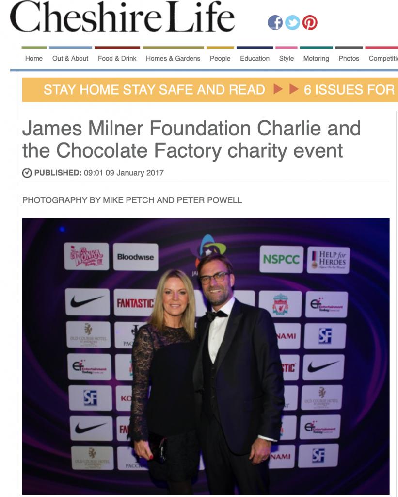 James Milner Foundation Ball 2016